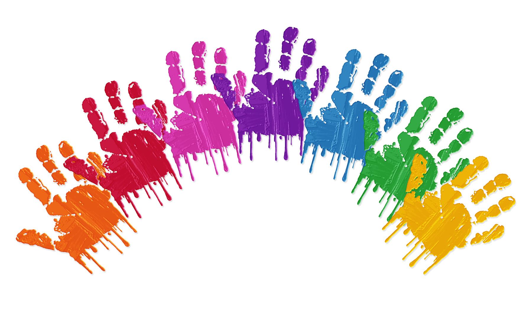 Mains rainbow envie d 39 air - Peinture main enfant ...